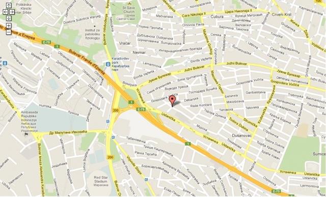 mapa beograda juzni bulevar Beograd, Vračar, Južni bulevar, Appartement, Location, 72 m2, 450  mapa beograda juzni bulevar
