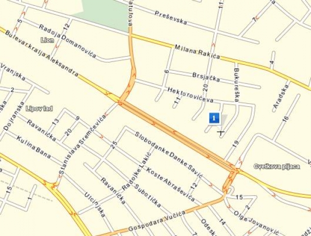 djeram pijaca mapa Beograd, Zvezdara, Cvetkova pijaca , Office, Rent, 75 m2, 300  djeram pijaca mapa